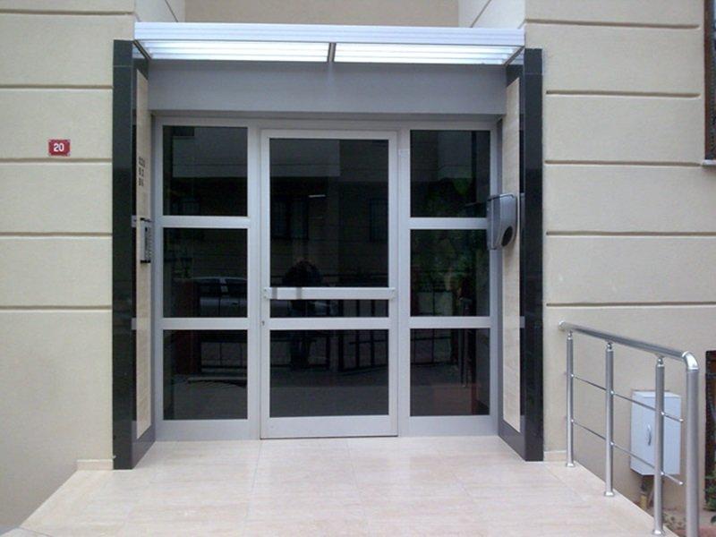 c60 seri+lamine cam bina kapısı